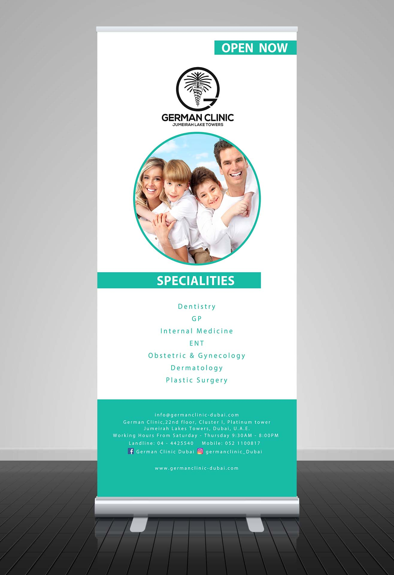 clinic roll up design