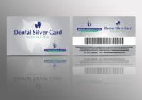 silver dental card design