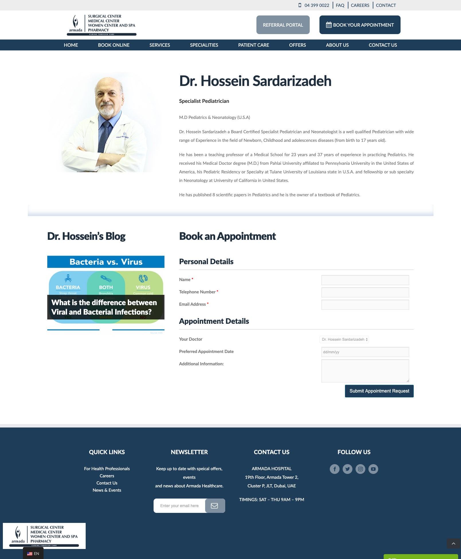 doctors page design