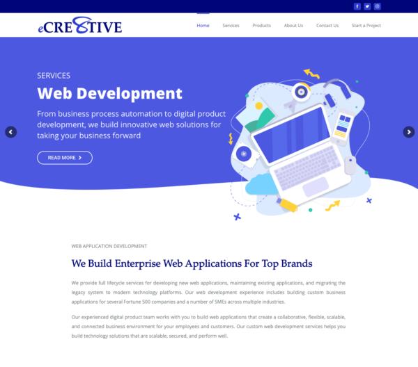 feature image ecre8tive website design by assam artist altaf
