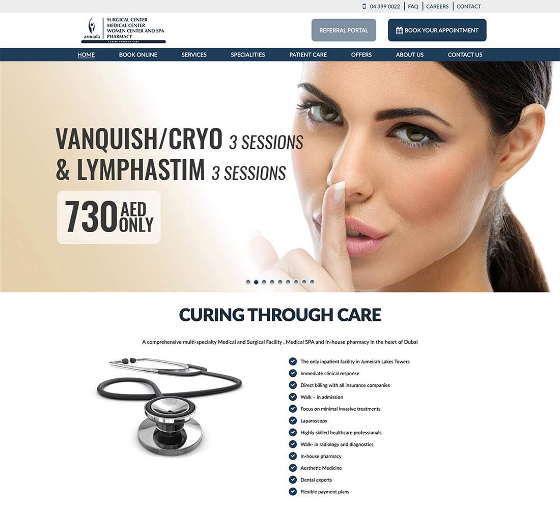 feature armada hospital web site