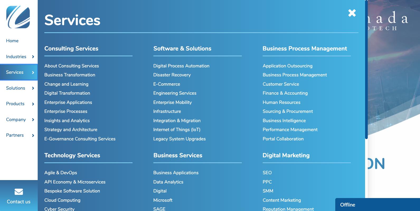 service menu design