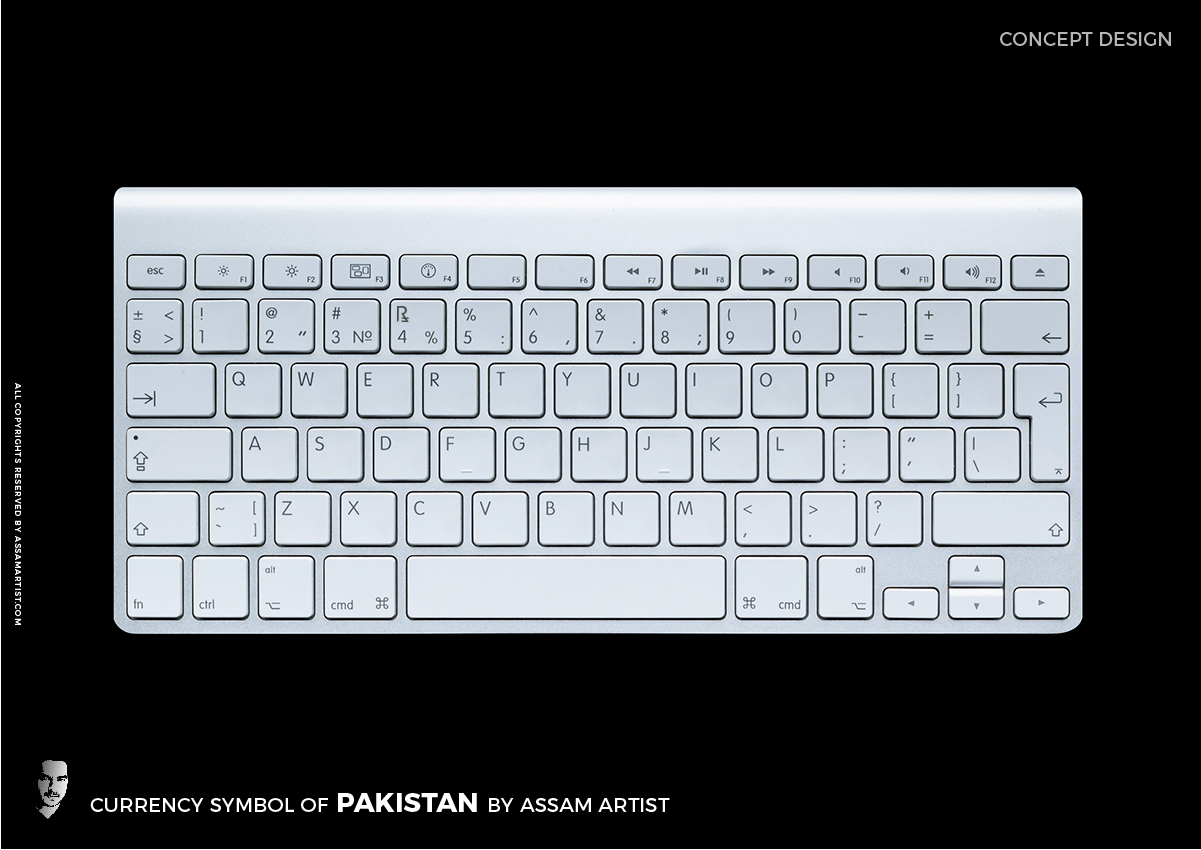 pakistan rupee symbol sign on keyboard