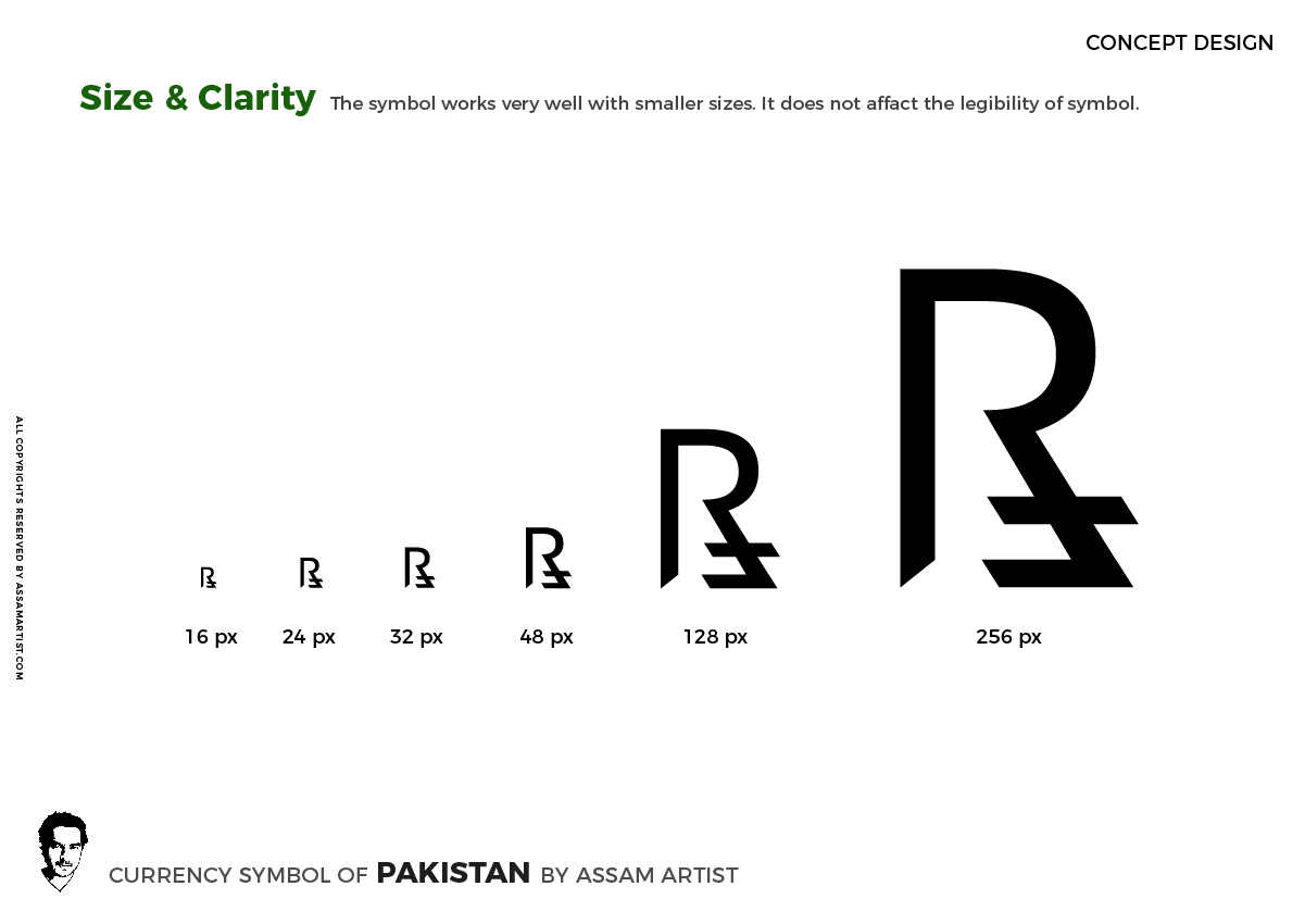 Pakistan Rupee Symbol Sign