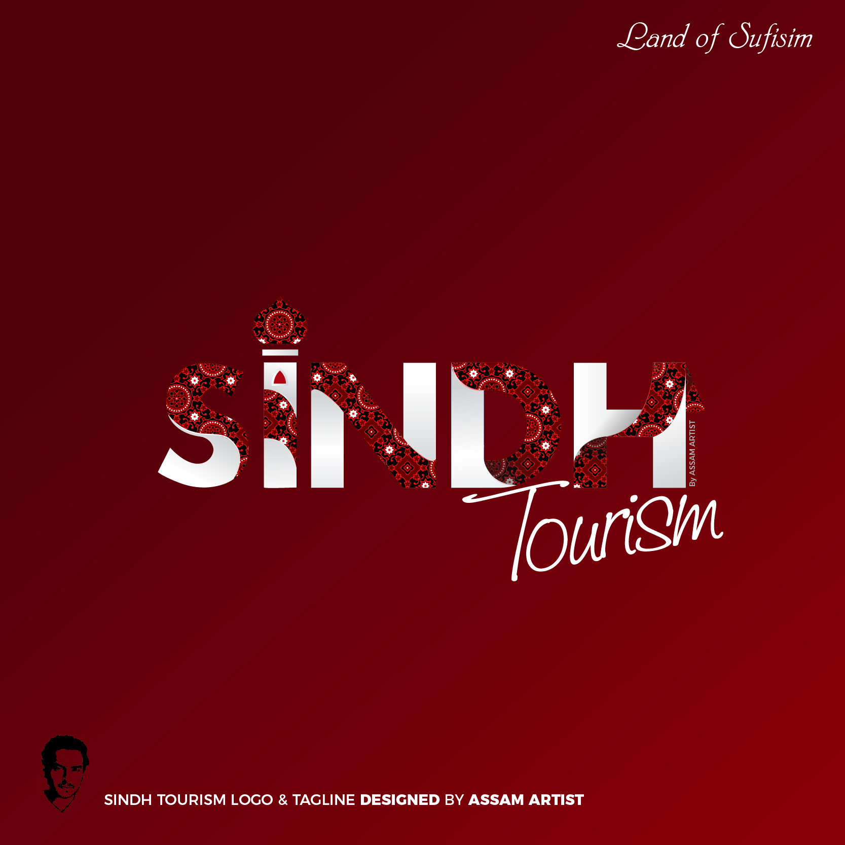 sindh tourism logo of pakistan design by assam