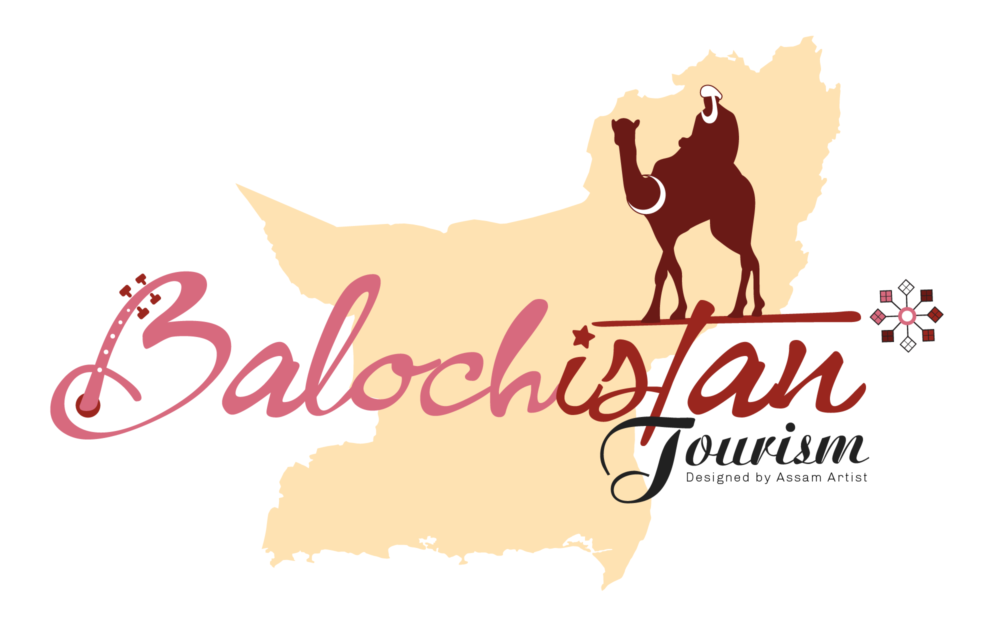 Balochistan tourism logo vector high resolution download