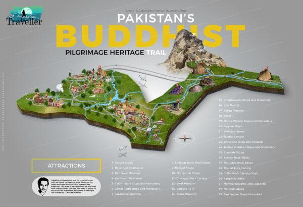 Buddhist Tourist attractions map
