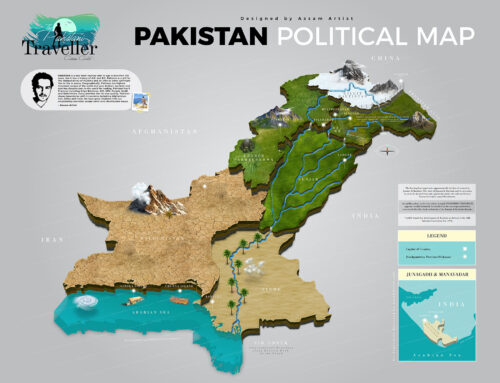 3D Pakistan Political Map