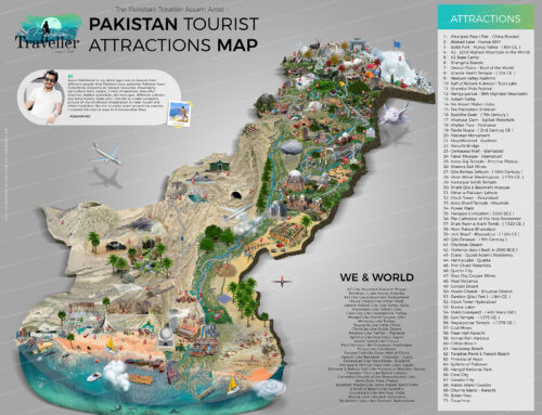 Pakistan Tourist and Travel Guide Map