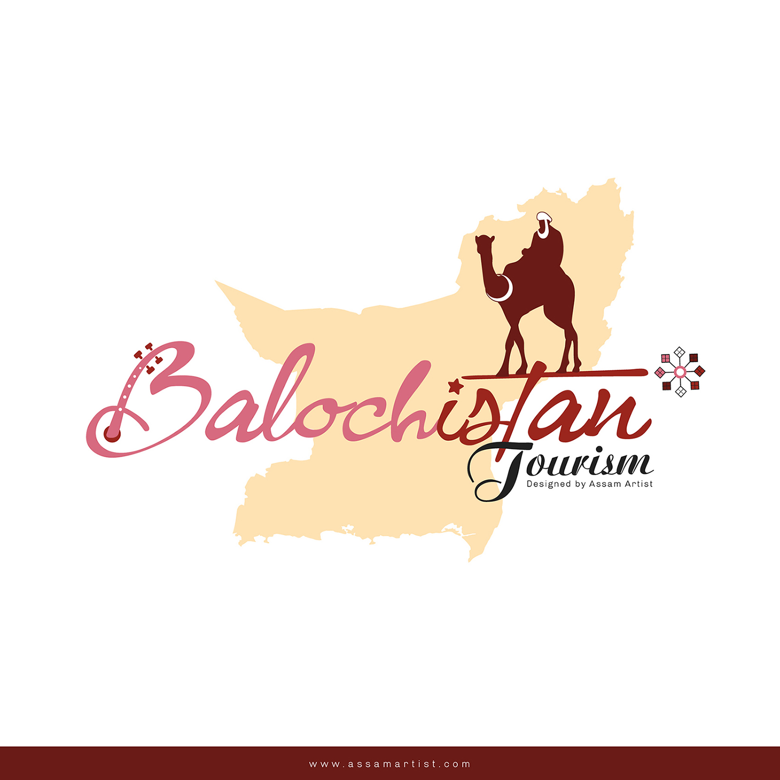 Balochistan tourism logo & Pakistan tourism logo