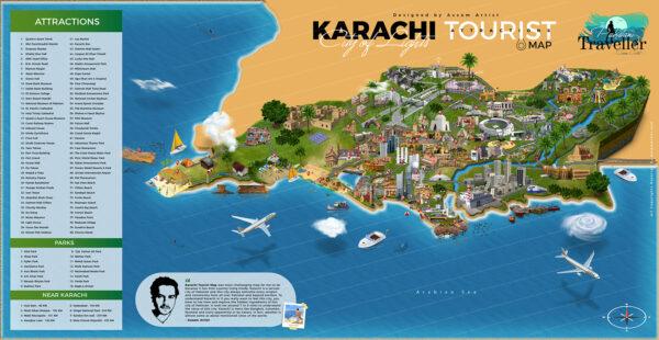 Karachi Tourist Attractions Map
