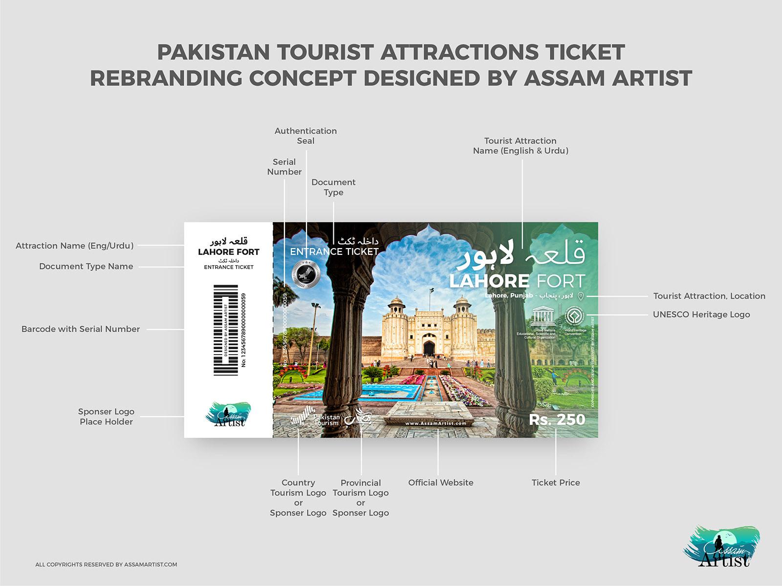 Pakistan Tourist places tickets